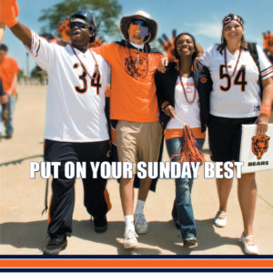 Chicago Bears 'Put On Your Sunday Best' Merchandise Print Ad