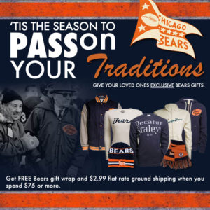 Chicago Bears email marketing for Traditions wear
