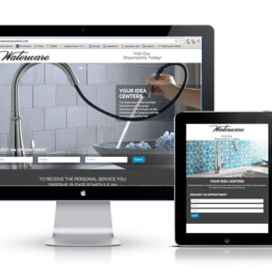 Waterware Showroom responsive website UX