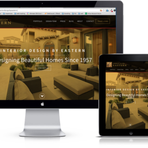 Interior Design by Eastern responsive website UX