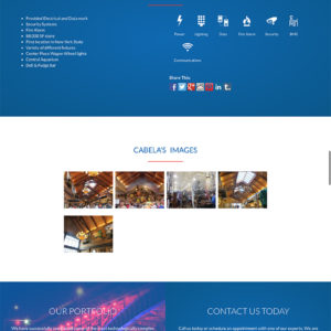 Frey Electric website project page