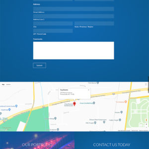 Frey Electric website contact page