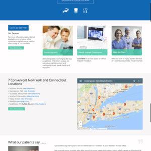 Contemporary Dental Responsive Website UX